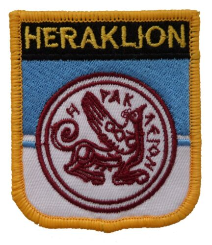 Heraklion Greece Shield Embroidered Patch