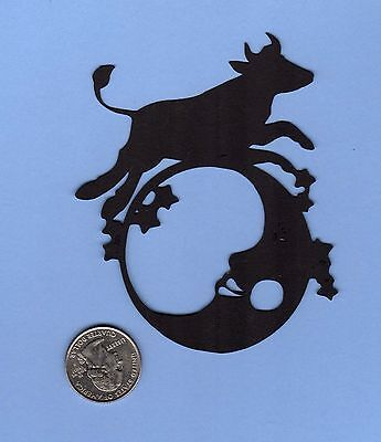 """Silhouette Cow Jumping Over the Moon Die Cut, 8"""" tall -  Wall Decor, Framable"""