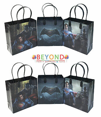 Batman verus Superman Birthday Goody Gift Loot Favor Bags Party Supplies Goodie](Batman Party Bags)