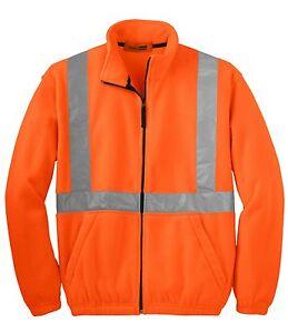 Cornerstone-Mens-Size-XS-L-4XL-FLEECE-Safety-Jacket-Reflective-Taping-HIGH-VIS