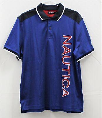 Nautica Blue Polo Shirt Men's Size L
