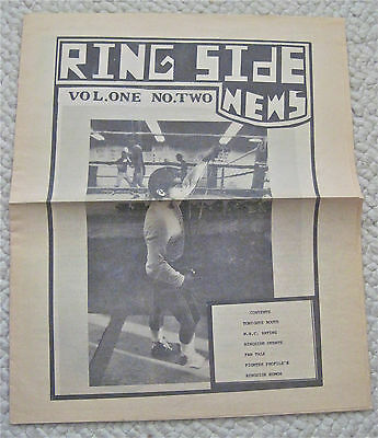 1982   Ring Side News   San Jose  Cal   Boxing Newspaper  Lot Of 3  Xlnt