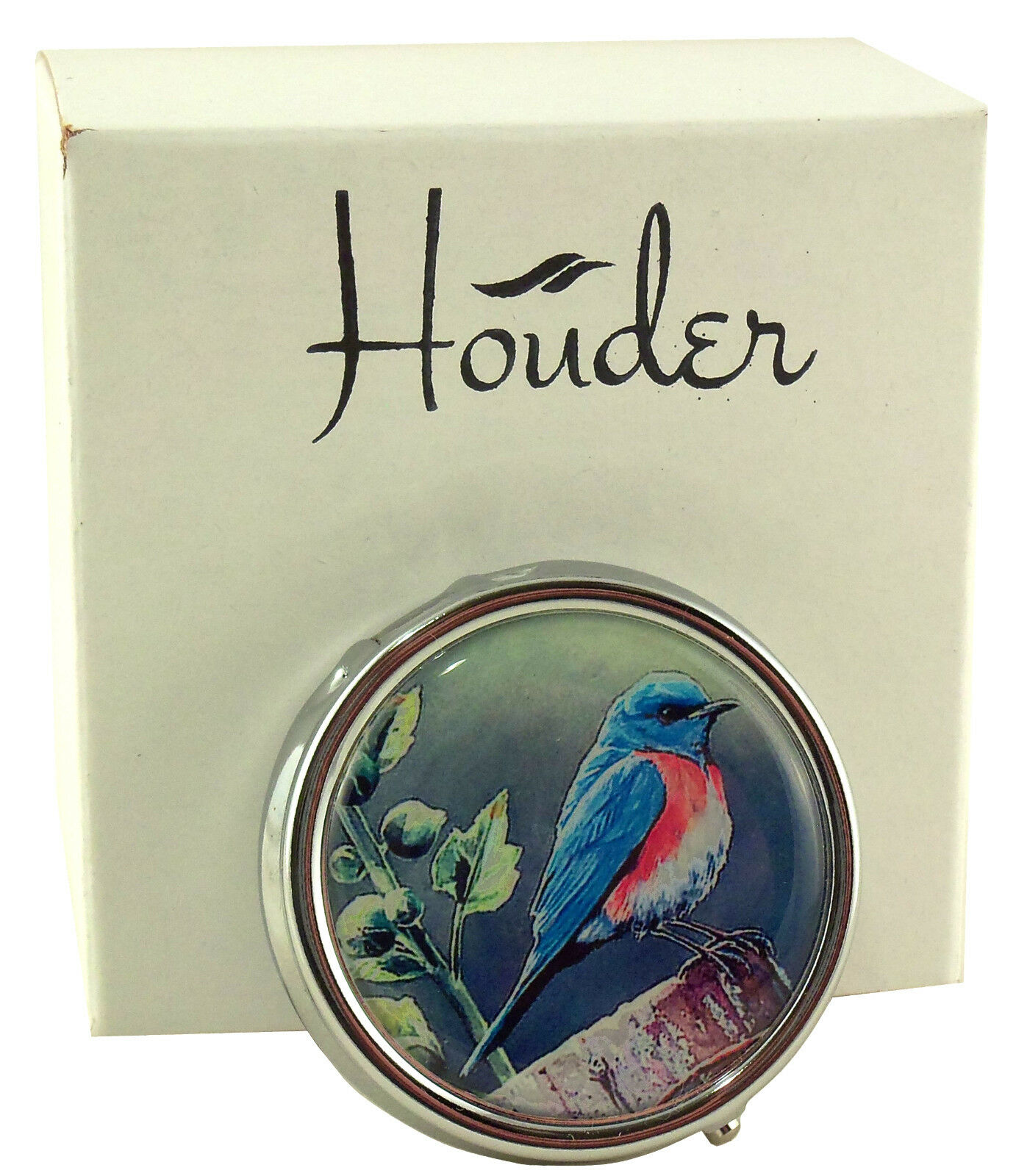 Designer Pill Box by Houder - Decorative Pill Case with Gift