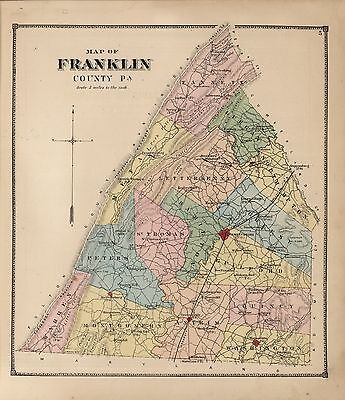 1867 FRANKLIN COUNTY plat maps PENNSYLVANIA old GENEALOGY LAND OWNERS DVD P7