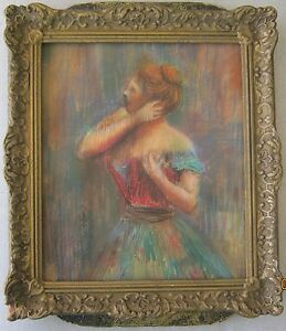 1890 Original Master Piece of a Portrait Made By French Artist Edgar Degas