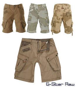 Mens-G-Star-RAW-3301-Shorts-Combats-BNWT