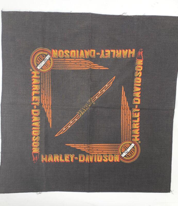 Vintage Harley Davidson Scarf Bandana Handkerchief 80s Thin Faded Patina