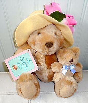 MAMA & BABY BEAR Plush Stuffed HALLMARK  Bearnadette Fuzzmore NWT