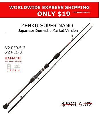 2018 Hamachi Zenku Nano Jig PE1 - 3 Japanese jigging fishing rod micro jig pole