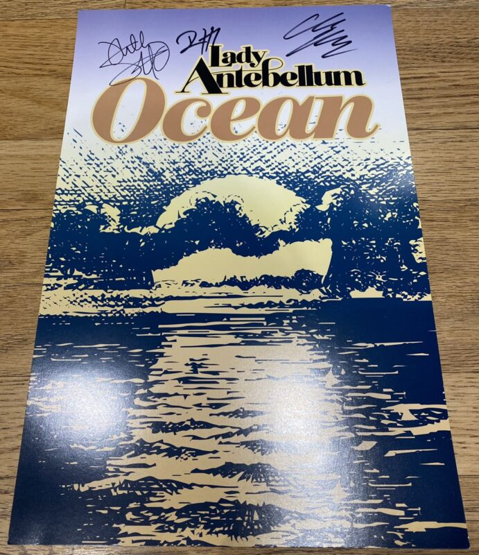 Lady Antebellum SIGNED Ocean Poster Lithograph Autograph Official Brand New