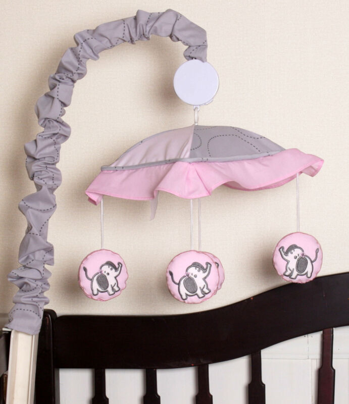 Gray Elephant Musical Mobile By GEENNY
