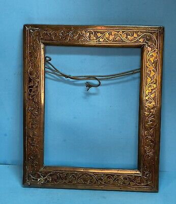 Antique Regency Brass Inlaid Mahogany Picture Frame  - Circa 1810 -