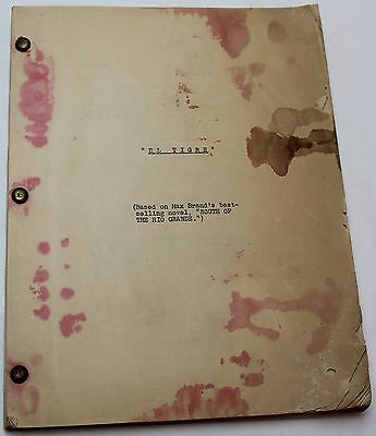 My Outlaw Brother * 1951 Movie Script * Mickey Rooney & Robert Preston, Western