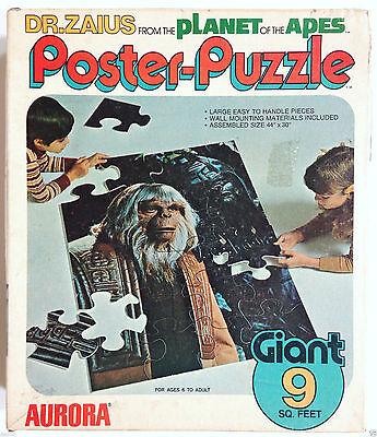 VINTAGE 1974 POTA GIANT POSTER PUZZLE DR ZAIUS AURORA COMPLETE 24 PIECE COMPLETE