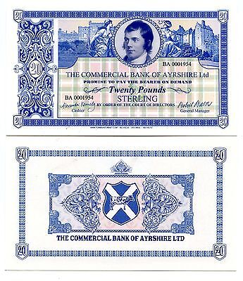 "The COMMERCIAL BANK of AYRSHIRE Ltd  ""Art Note"""