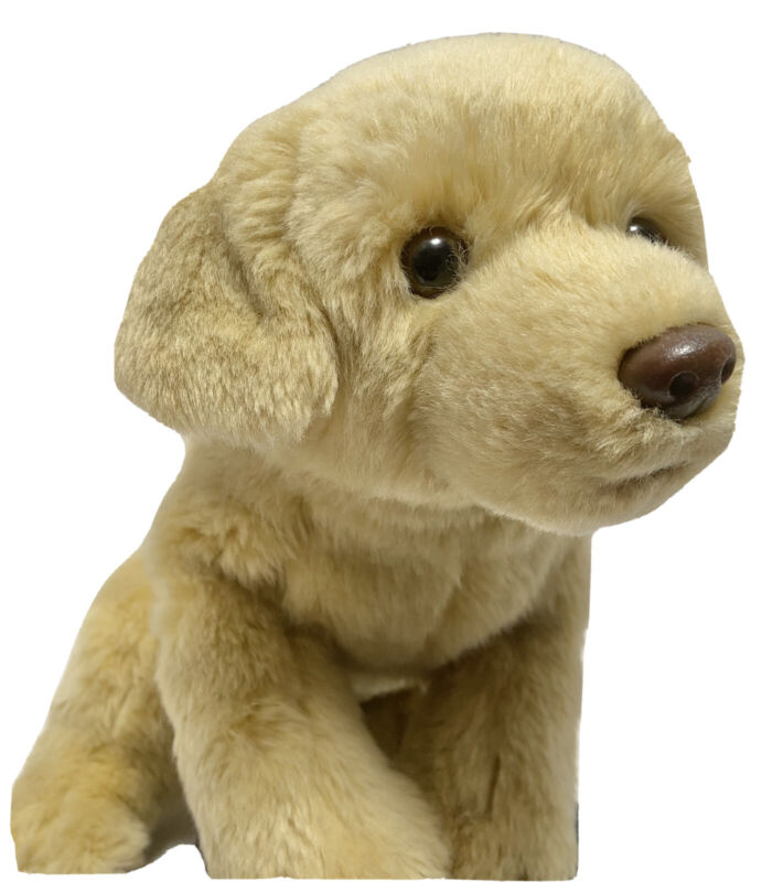 Toys R Us Yellow Labrador Retriever Lab Dog Stuffed Plush Pup Toy
