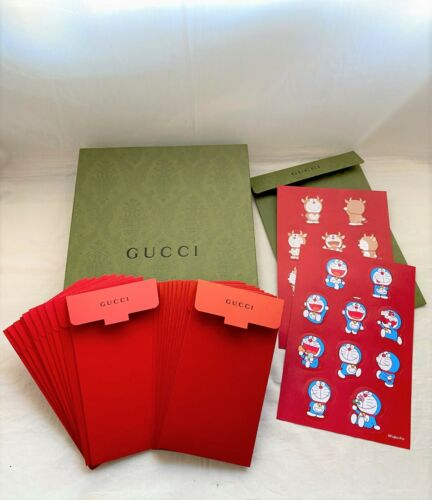 Gucci 2021 Doraemon cat red packet for star eye fur mug slippers candle backpack