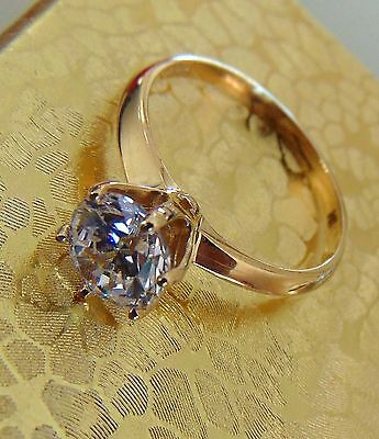 2.00 Soliter Round Cut 14k Yellow Gold Wedding Engagement Ring for sale  Shipping to South Africa