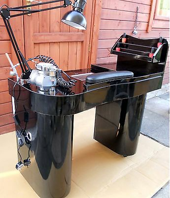 NEW MANICURE  NAILS TABLE JK  BLACK  /BLACK  with attractor