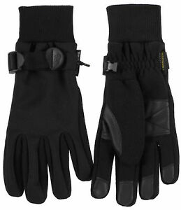 Mens-Black-Micro-Fleece-Sport-Winter-Snow-Gloves-Waterproof-Windproof-63195