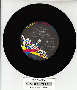 YOTHU-YINDI-Treaty-7-45-rpm-vinyl-record-juke-box-title-strip