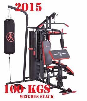 Multi Home Gym with Weight Stacks 100 KG Mega Fitness Equipment w Smithfield Parramatta Area Preview