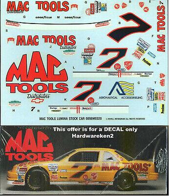 NASCAR DECAL # 7 MAC TOOLS 1992 BGN LUMINA HARRY GANT - 1/24