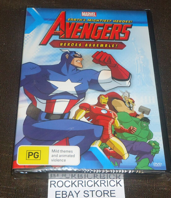 THE AVENGERS - HEROES ASSEMBLE! DVD (7 EPISODES) (BRAND NEW SEALED)