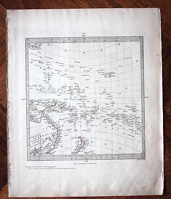 Original antique map SDUK AUSTRALIA NEW ZEALAND c.1845