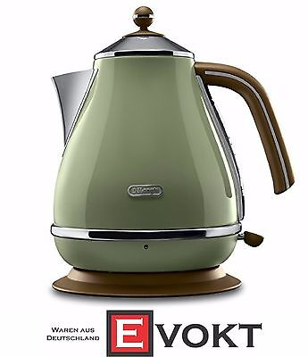 DeLonghi Icona Vintage KBOV2001.GR Electric Cordless Kettle Green 2000W Genuine