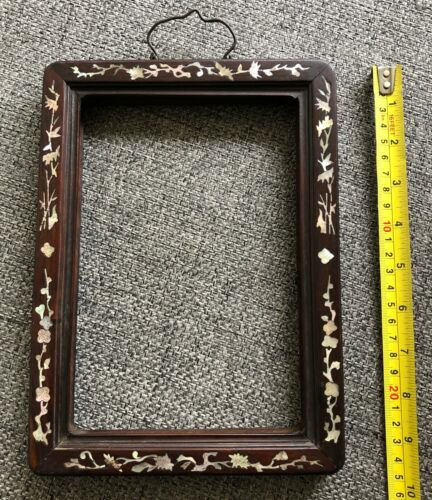 ANTIQUE CHINESE MOTHER OF PEARL PICTURE FRAME. 19TH C.