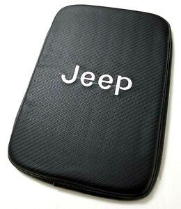 BRAND NEW JEEP Carbon Fiber Car Center Console Armrest Cushion Mat Pad Cover