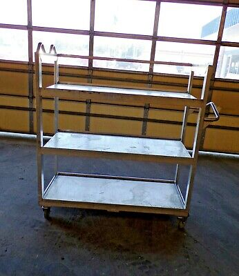 New Age Industrial Bulk Carrier Rolling Cart 3 Solid Shelves 57 X 24 X 57