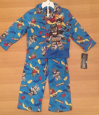 LEGO BATMAN & ROBIN Flannel Pajamas Shirt & Pants 3T ~ NWT Batman And Robin Pajamas