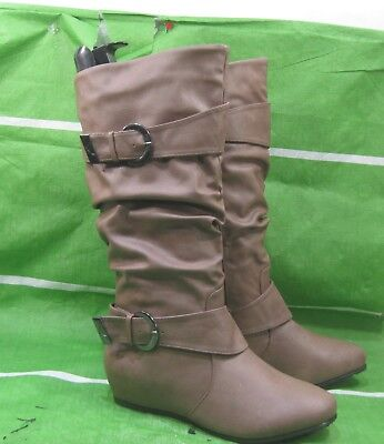 New Ladies Brown Wedge Heel - NEW LADIES Womens brown 1.5