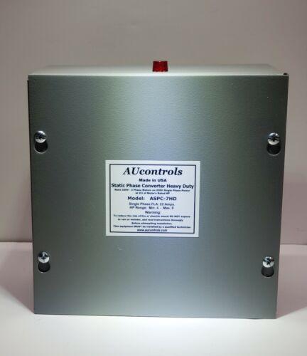 Static Phase Converter Runs 4-8 HP, 3-phase Motors 230 VAC w/Single Phase Power.