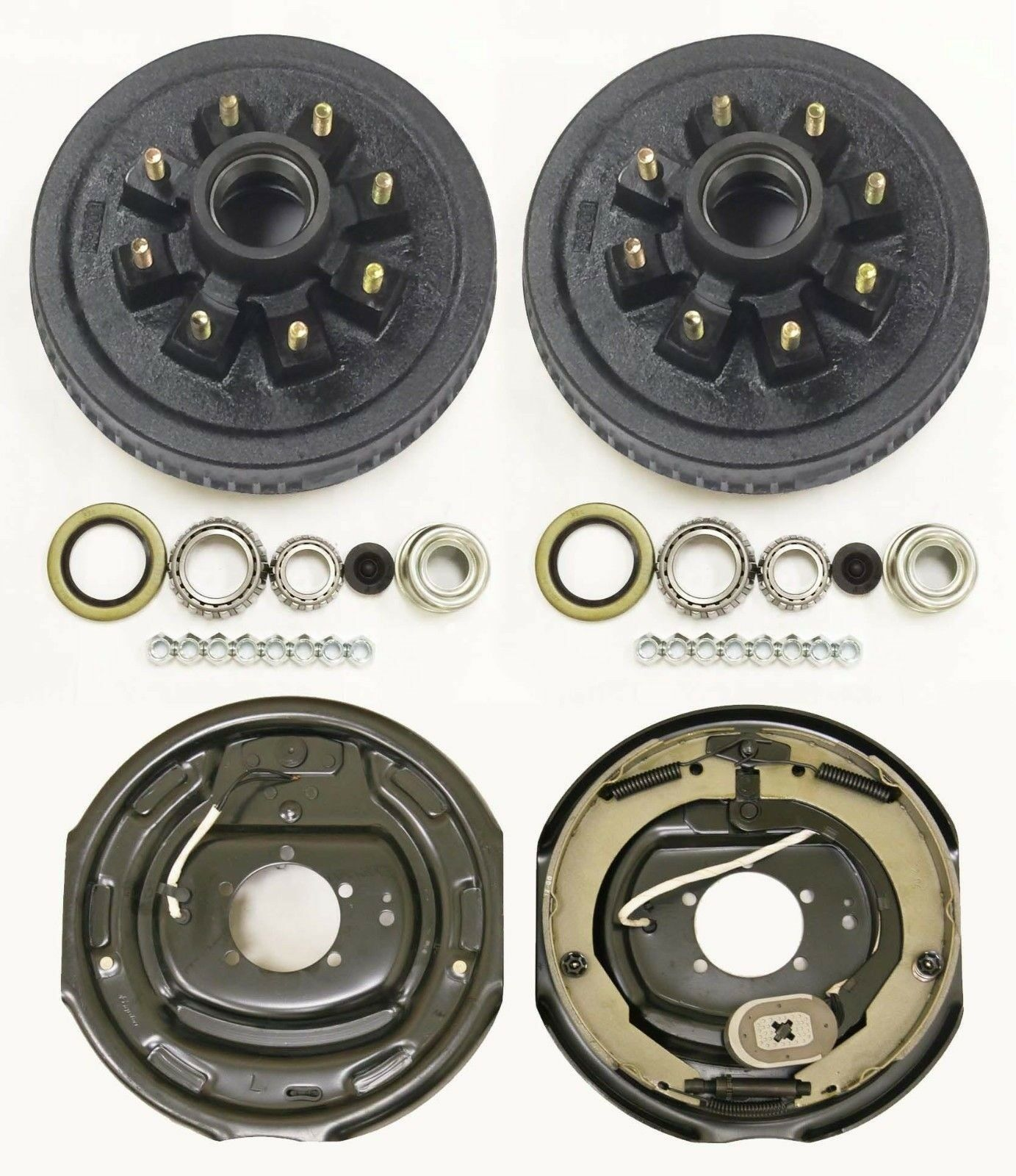 "Trailer 8 on 6.5"" Hub Drum Kits with 12""x2"" Electric Brakes for 7000 lbs axle"