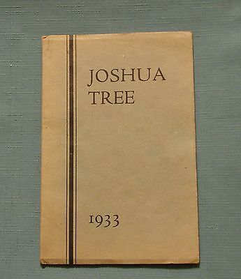 1933 VICTOR VALLEY UNION HIGH SCHOOL YEARBOOK VICTORVILLE (Victor Valley California)