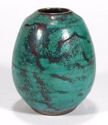 Jugtown Pottery Seagrove NC Chinese Translation blue red Southern vase Ben Owen