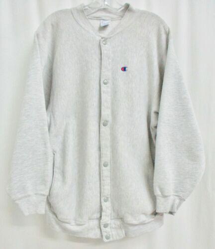 Vintage Champion Reverse Weave Snap Front Sweatshirt Jacket (Pre-owned) Size LG