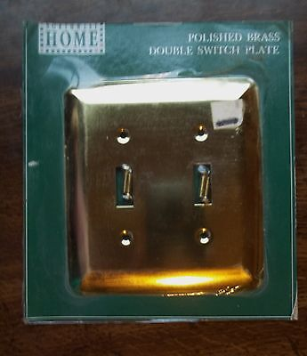 Northwest Switchplate - Polished BRASS DOUBLE Toggle Switch Wall Plate Cover NORTHWEST HOME