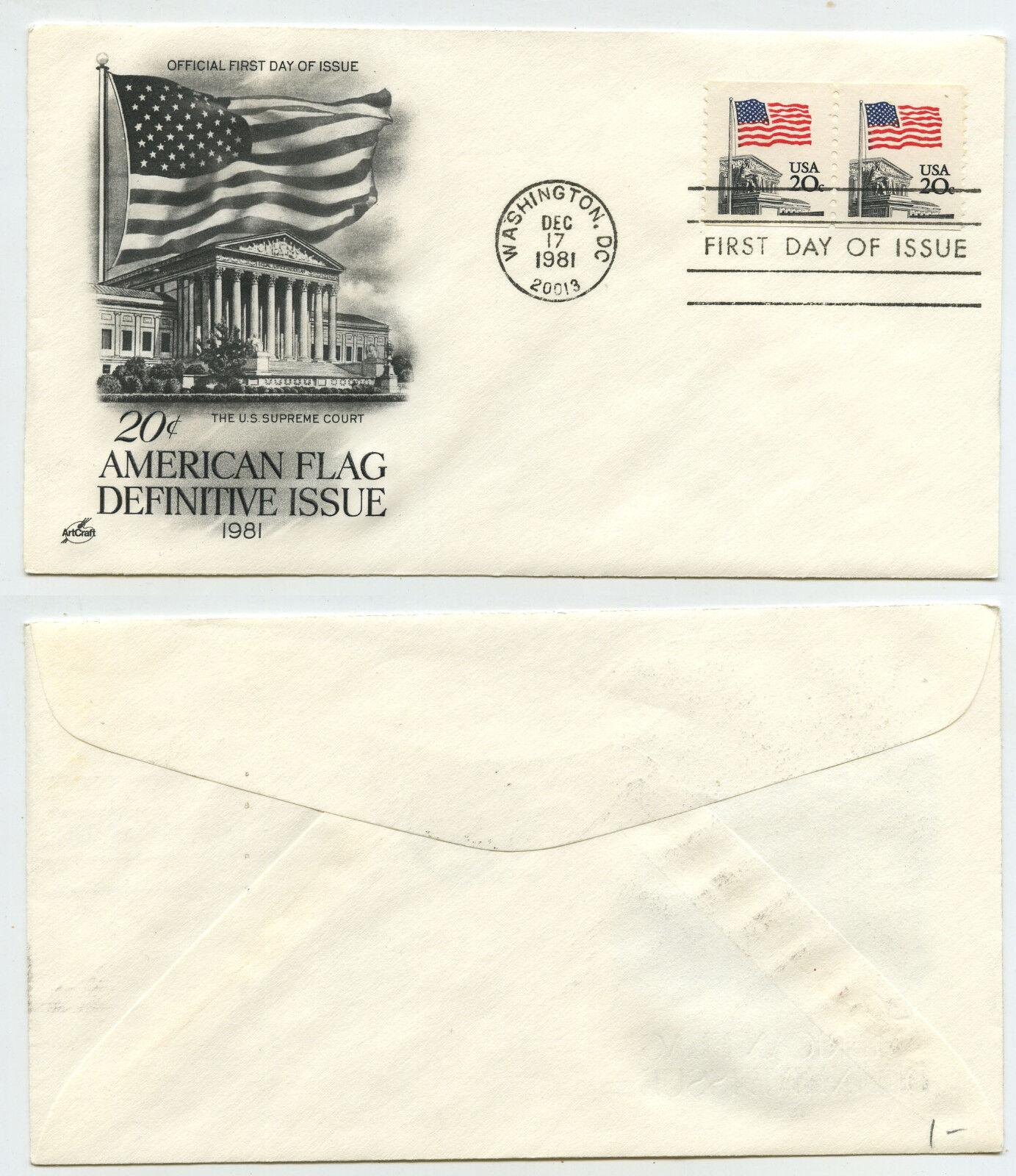 50388 - USA - FDC - American Flag - Washington 17.12.1981