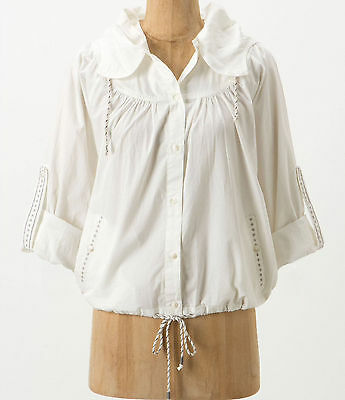Maple Starry Skies Buttondown Jacket Coat Size Small Ivory NW ANTHROPOLOGIE (Maple Coat)