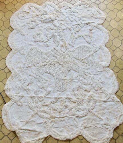 Antique Bedspread/Counterpane Coverlet 1840