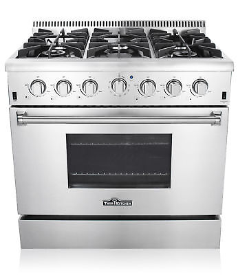 36'' gas stove Stainless Steel 6 burners Kitchen Gas Range CSA Certified HRG3618 36' Gas Ranges Sealed Burners