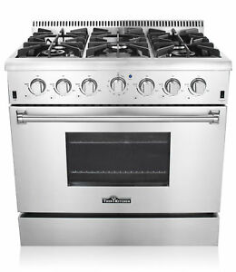 36'' gas stove Stainless Steel 6 burners Kitchen Gas Range CSA Certified HRG3618