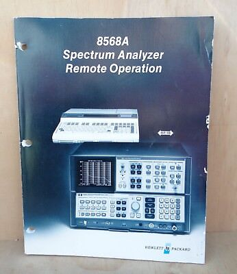 Hp 8568a Spectrum Analyzer Remote Operation Manual