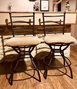 2 Wrought Iron Bar Stool Chairs
