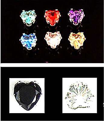 Classic magnetic magnet diamond stud style crystal earrings multiple colours