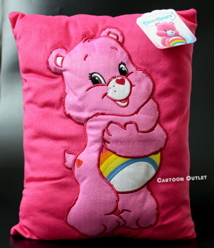 Care Bears Plush Pillow Pink Square Pillow Birthday Gift Cheer Rainbow Easter